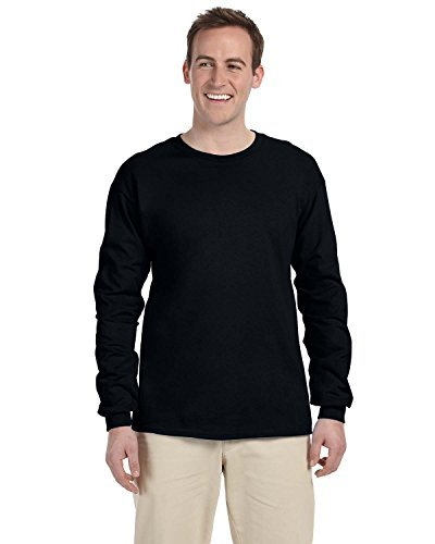 T-shirt Machine Adult (Gildan Adult L/S T-Shirt in Black - Large)