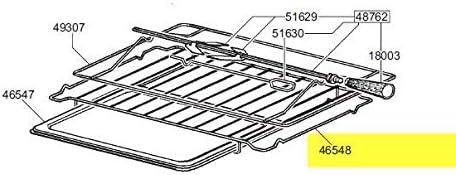 Smeg 844090900 - Rejilla de acero inoxidable suplementaria para horno: Amazon.es: Grandes electrodomésticos