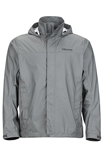 Marmot Men's PreCip Jacket, Gargoyle, XL