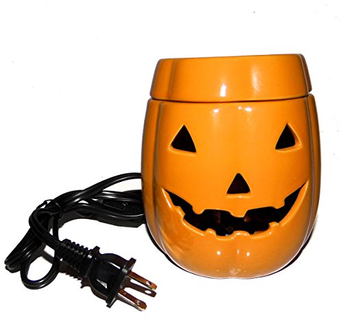 Halloween Jack O Lantern Pumpkin Web Candle Wax Warmer Plug in with Bulb UL588 -