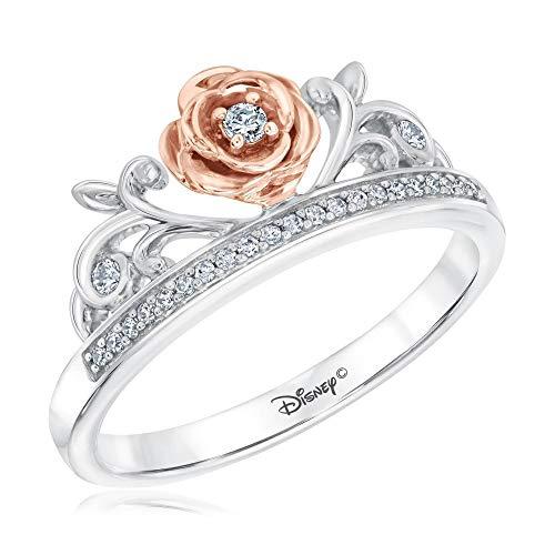 Disney Enchanted Fine Jewelry Diamond Belle Princess Ring 1/10ctw - Size 5.5
