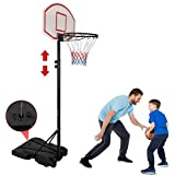 Nova Microdermabrasion Kids Portable Height Adjustable Basketball Hoop Stand, 28 Inch Backboard, Basketball Goals Indoor/Outdoor
