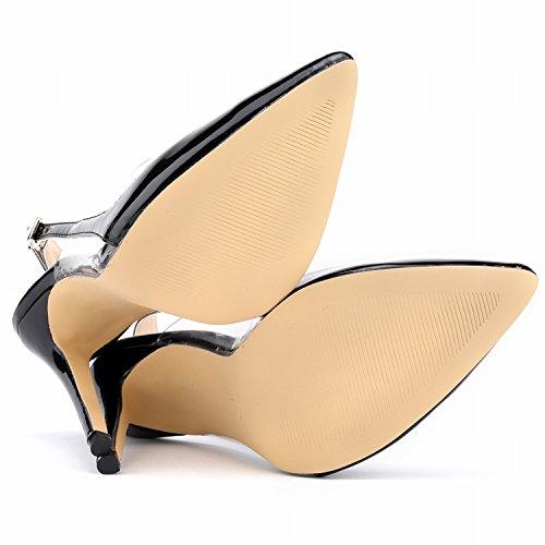 mujer Zapatos negro con tobillo correa CFP de CUgFqAxw