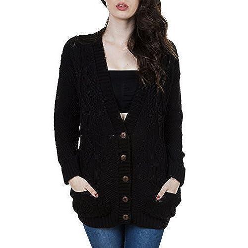 Black Cable Knit Sweater: Amazon.com