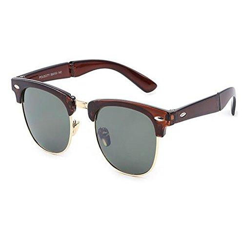 y anteojos para Clásico Portátil Moda Retro Anti Deylaying C6 los Doblez Bisagra de Marco sol Anti fatiga Gafas Hombres Mujer UV Manejar X4aq0F0wx