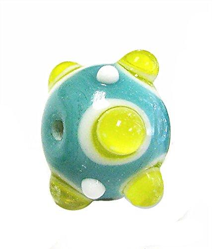Linpeng 1972-42 Glass Beads Green/Light Yellow ()