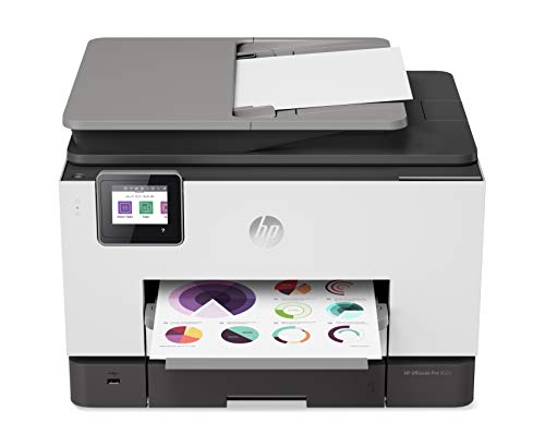 HP OfficeJet Pro 9025 All-in-One Wireless Printer, with Smart Tasks & Advanced Scan Solutions for Smart Office Productivity, Never Run Out of Ink with HP Instant Ink (1MR66A) ()