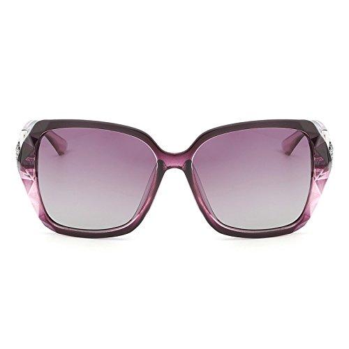 Femmes Purple Uv400 Diamant Lunettes Oversize De Vintage Polarisées weifeng Y Papillon Prismatique Avec Femelle Lentille Soleil Gradient Jambe qFxn5WTW