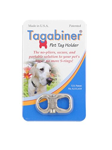 Tagabiner The New Pet Tag Holder, Secure and Portable Solution to your Pet's -