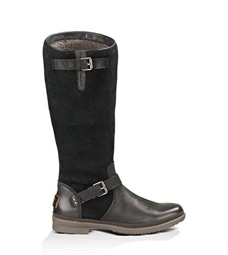 UGG Australia Women's Thomsen Black Leather Boot 5.5 M US