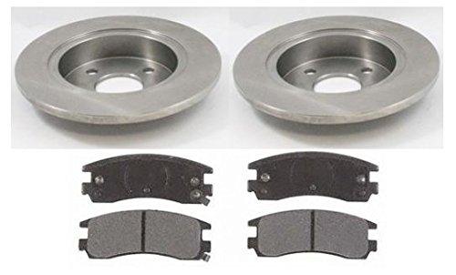 Rear Brake Pads & Disc Rotors Kit Set LH & RH for 91-98 Saturn SL SC SW S Series