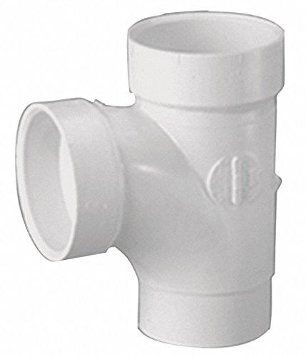 (Mueller Industries PVC Sanitary Street Tee, Spigot x Hub x Hub, 2