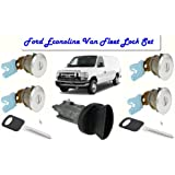 Ford Econoline Van (E150~E250~E350) Same Key Fleet Door Locks & Keyed Ignition Switch Cylinder Lock Set For Commercial Cargo & Club Wagon Passenger Van 1997-2012