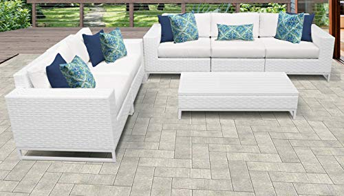 TK Classics MIAMI-06i Miami Seating Outdoor Furniture, Sail White (Cheap Miami Furniture)