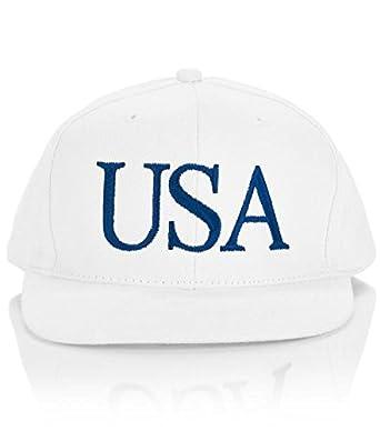 2282f78971aa13 President Donald J. Trump White USA Hat at Amazon Men s Clothing store