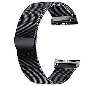 Zagzog Correa Reloj Inteligente de Acero Inoxidable de Color Negro, Correa para Smartwatch (Reloj Cuadrado), Correa de Reloj Deportivo de Largo 220mm
