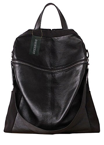 Greeniris mujer mochila viajes vintagecolegio mochila para niña negro
