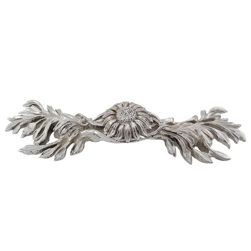 Vicenza Designs K1216 Carlotta Sunflower Pull 3-Inch Polished Silver