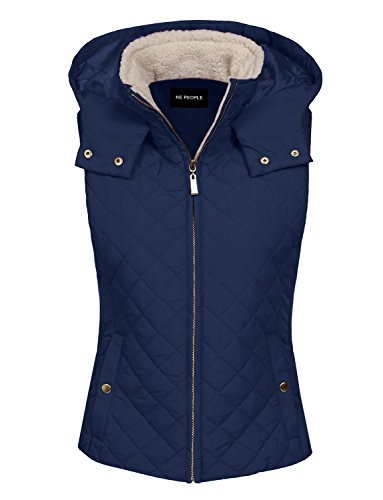 NE PEOPLE Womens Classic Quilted Front Zip Up Padded Vest S-3XL ()
