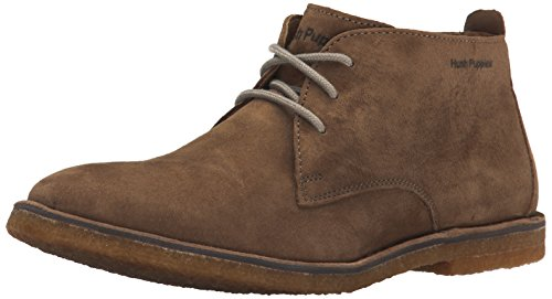 Hush Puppies Men's Desert II Chukka Boot, Taupe, 8 W US