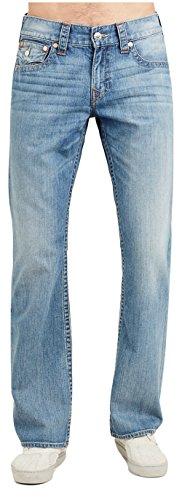 (True Religion Men's Bootcut Jeans w/Flaps in Rock Sand (42))