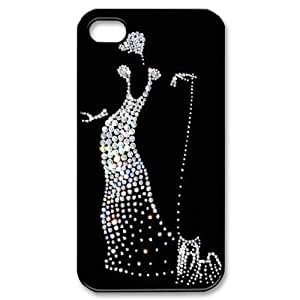 Silver Bling Custom Cover Case for Iphone 4,4S,diy phone case ygtg592779 by icecream design