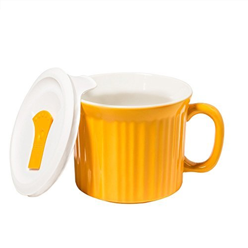 Corningware Colours Pop-ins Mug with Lid, 20-ounce, Sunflower