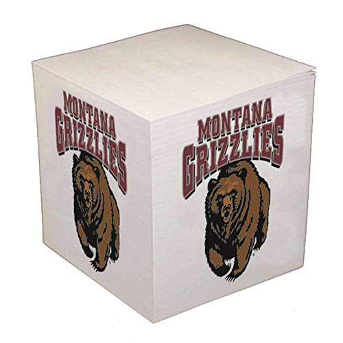 MGF Consortium Montana Grizzlies Sticky Note Memo Cube - 550 Sheets