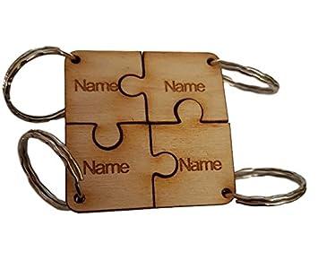 Llavero cuadrado personalizable, regalo para amigos o ...