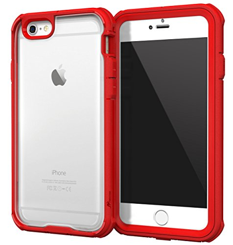 [해외]iPhone 6s Case roocase [Glacier TOUGH] iPhone 6 (4.7) Hybrid Scratch Resistant Clear PC  TPU Armor Full Body Protection Case CoverBuilt-in Screen Protector for Apple iPhone 6  6s (2015) Carmine Red / iPhone 6s Case, roocase [Glacie...