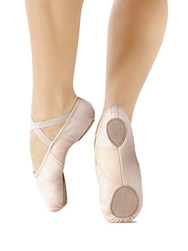 So Danca Kinder Ballettschläppchen Leinen, Weite M s.pink