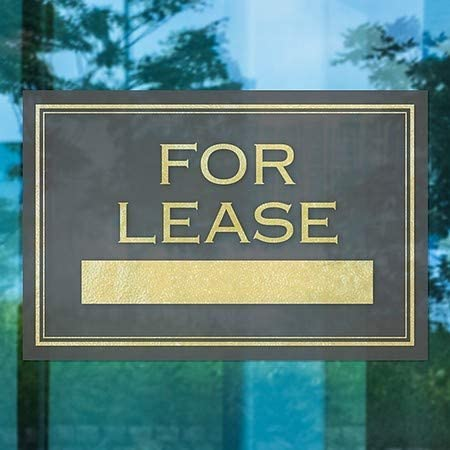 for Lease Classic Gold Window Cling 5-Pack CGSignLab 18x12