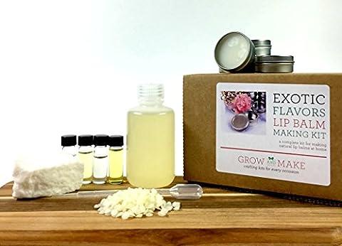 Exotic Flavors DIY Lip Balm Making Kit (with tins) makes 12 lip balms - Own Manga