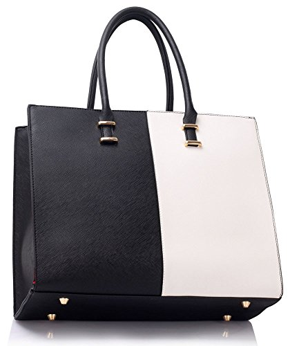 Strap Bag Black For White Ladies Tote Design Women Female Designer Faux Leather Shoulder Large With Extra New 1 Handbag wCRq061