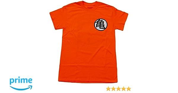 3f5497b1b Amazon.com: Dragon Ball Z Men's Goku Kame Turtle & Kaio King Kai Symbol T-Shirt  Orange: Clothing