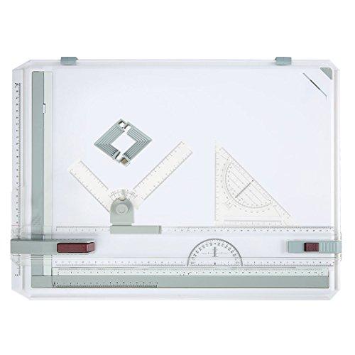 Homdox Multifunktional Zeichenplatte Zeichenbrett DIN A3 Zeichentisch Professionell Arbeiten Schnellzeichenplatte
