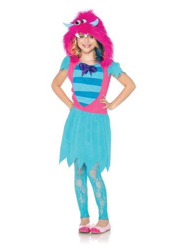 Furry Skirt (Leg Avenue Growling Gabby Furry Monster Costume, Blue/Pink, Large)