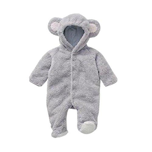 Clothes Set Cute 3D Bear Ear Jumpsuit Baby Boy Clothes Set Autumn Winter Warm Baby Clothing Set
