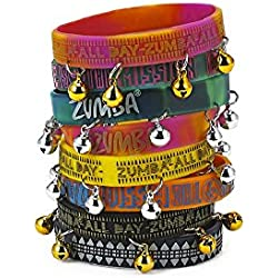 Zumba Rock N Rave Rubber Bracelets 8-pack (4 with bells) (4 without bells)