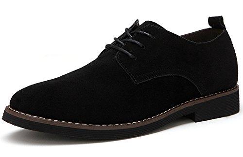 Uomini Pelle Extra scamosciato 48 casuale PU Bebete5858 Dimensione scarpe stile particolarmente Nero Inghilterra Uomo Grande qXdyyw80