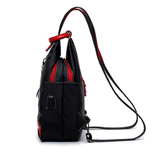 a colore versione Olprkgdg femminile Borsa nero Nero borsa tracolla viaggio Messenger Mummy coreana impermeabile da nylon La Double in d10Bap