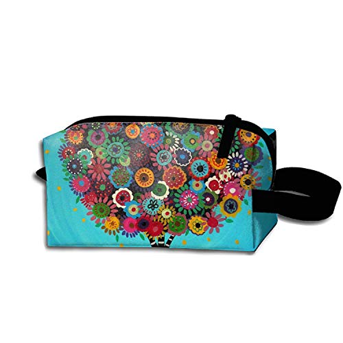 (scakoko Storage Bag Travel Bag Mexican Folk Art Tree Cosmetic Bag Portable Travel Makeup Bag Pencil)