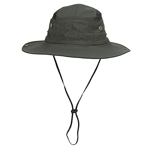 Vadventure Summer Mens and Womens Safari Hat Wide Brim Waterproof Fishing Caps Sun Protection Boonie Hats for Hunting Hiking Camping and Travelling