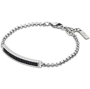 Lotus LS1344 - 2-6 pulsera para mujer estilo acero y colour negro cristal 21,5 cm