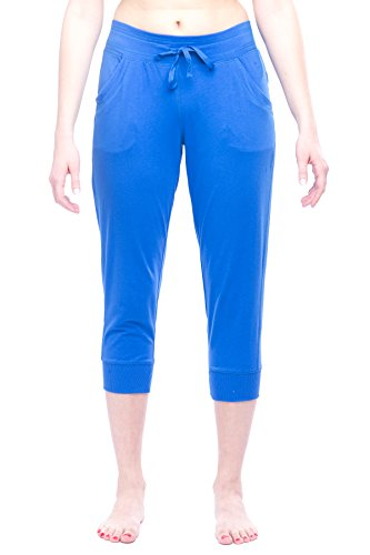 Danskin Now Women's Cuffed Lounge Capri Royal XL (Capris Danskin)