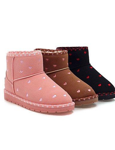 Cn39 Pink Eu39 us7 Rosa Eu38 De Vestido Nieve us8 Redonda Zapatos Botas Mujer 5 Marrón Brown Cn38 Vellón Plataforma Casual Uk5 Negro 5 Punta Xzz Uk6 HCUqAwRn