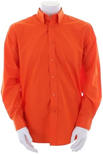 Fuerza de Trabajo Kit Kustom – Camisa de Manga Larga para Hombre Naranja Naranja S: Amazon.es: Ropa y accesorios