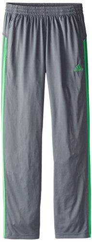 adidas Big Boys Loose Core Pant, Grey/Green, Small
