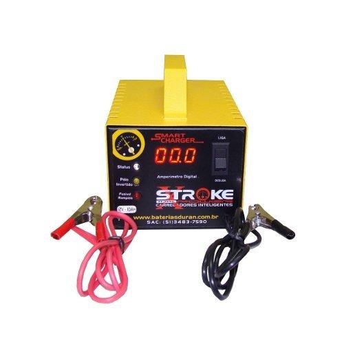 Carregador de Bateria Stroke Power 10ah 12v Inteligente/Flutuante com Amperímetro Digital