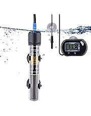 FREESEA 25/50/100/200/300 Watt Aquarium Heater with Aquarium Submersible Thermometer